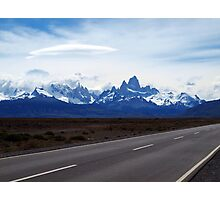 Lenticular Clouds over FitzRoy Range ,  Patagonia Photographic Print