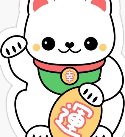Kawaii Maneki Neko Sticker