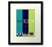 Blue To Green: Weezer's First 3 Albums Framed Print