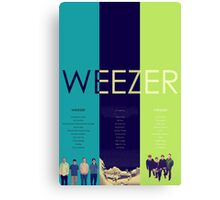 Blue To Green: Weezer's First 3 Albums Canvas Print