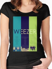 Blue To Green: Weezer's First 3 Albums Women's Fitted Scoop T-Shirt