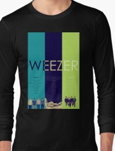Blue To Green: Weezer's First 3 Albums Long Sleeve T-Shirt