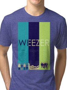Blue To Green: Weezer's First 3 Albums Tri-blend T-Shirt