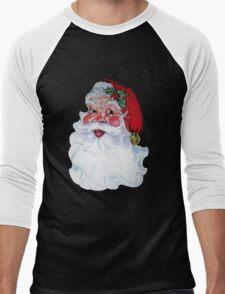 Vintage Style Jolly Santa  Men's Baseball ¾ T-Shirt