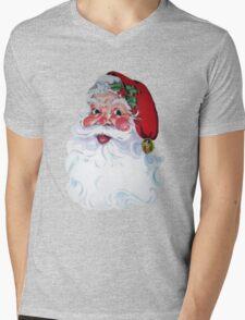 Vintage Style Jolly Santa  Mens V-Neck T-Shirt