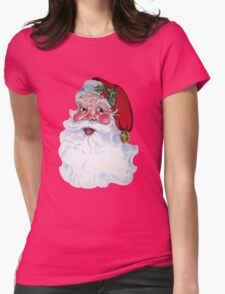 Vintage Style Jolly Santa  Womens Fitted T-Shirt
