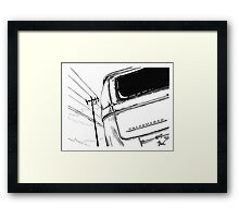 Bay Bus...........from drawing that i did Framed Print