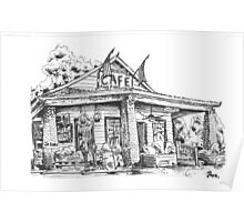 Whistle Stop cafe .......drawing  from Juliette GA Poster