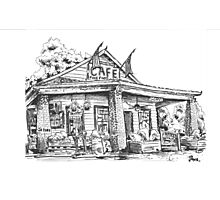 Whistle Stop cafe .......drawing  from Juliette GA Photographic Print