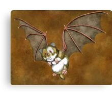 Beware the vampire hamster Canvas Print