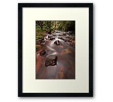 Kaiate Autumn Reds Framed Print