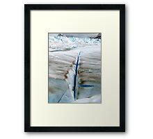 Crevasse , Glaciar Perito Moreno      Patagonia Argentina  Framed Print