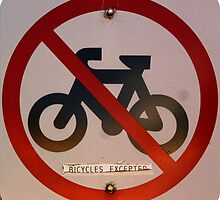 Bicycles Excepted by Keith Richardson