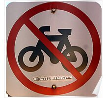 Bicycles Excepted Poster