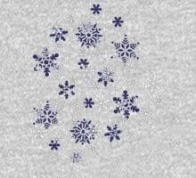Blue and White Holiday Snowflakes Kids Tee