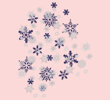 Blue and White Holiday Snowflakes Kids Clothes