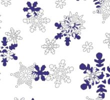 Blue and White Holiday Snowflakes Sticker