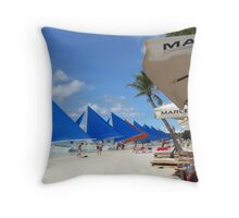 Blue sails Throw Pillow