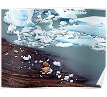 Glaciar Perito Moreno meltwater , Patagonia Argentina  Poster
