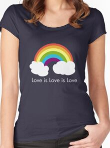 Love is Love is Love- Rainbow Women's Fitted Scoop T-Shirt