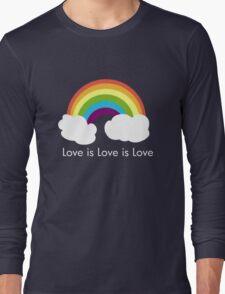 Love is Love is Love- Rainbow Long Sleeve T-Shirt