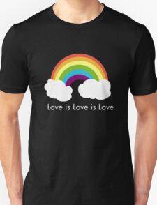 Love is Love is Love- Rainbow Unisex T-Shirt