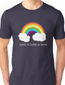 Love is Love is Love- Rainbow T-Shirt