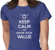 Know Your Value Womens Fitted T-Shirt