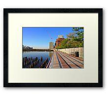 Promenade On The Hudson Rv. Framed Print