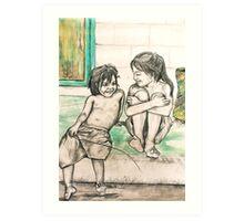 Kiri Girls Art Print
