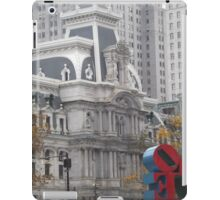 Love Sculpture, Classic Philadelphia City Hall, Philadelphia, Pennsylvania  iPad Case/Skin