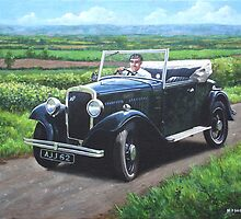 Vintage Car Austin 7 by martyee
