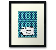 Introverts Are Awesome Cat in a Bag! Framed Print