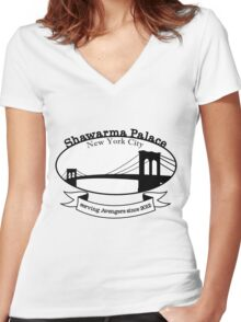 Shawarma Palace - Voted #1 in New York City Women's Fitted V-Neck T-Shirt