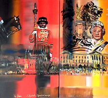 Queens Diamond Jubilee Painting - 3177 by Eraclis Aristidou