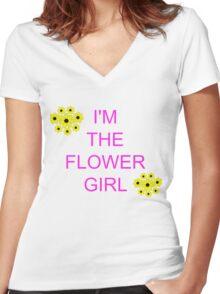 I'm the flower girl Women's Fitted V-Neck T-Shirt
