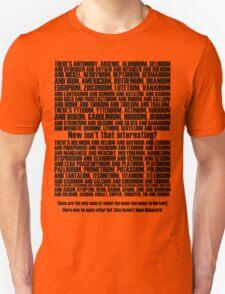 The Element Song - Lyrical T-shirt (Black) Unisex T-Shirt