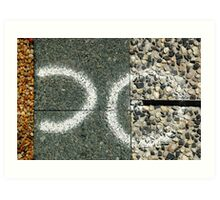 Abstract footpath Art Print