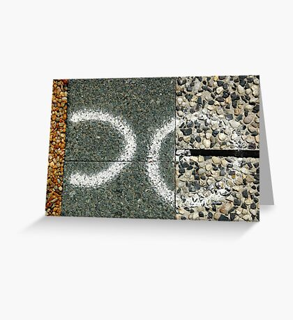 Abstract footpath Greeting Card