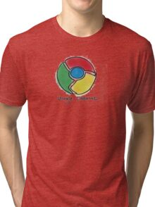 Google Chrome Internet Browser T Shirt Tri-blend T-Shirt