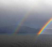 Double rainbow, Romsdalsfjord , Norway by buttonpresser