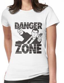 danger zone acher  Womens Fitted T-Shirt