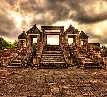 Ratu Boko Steps - an ancient Indonesian Kingdom by Jimmy McIntyre