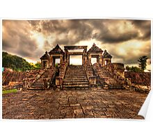 Ratu Boko Steps - an ancient Indonesian Kingdom Poster