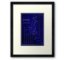 Juggler Blueprint Framed Print