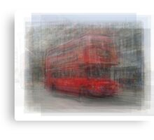 Red London Bus Overlay Canvas Print