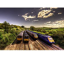 Summer Saturday at Aller Junction Photographic Print