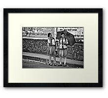Good Friendship is Like a Pair of Wrinkled Tights Framed Print