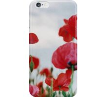 Field of Poppies Against Grey Sky  iPhone Case/Skin