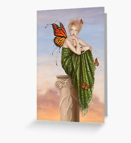 Sunrise Monarch Butterfly Fairy Greeting Card